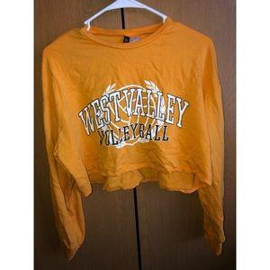 West valley volleyball cropped sweatshirt
